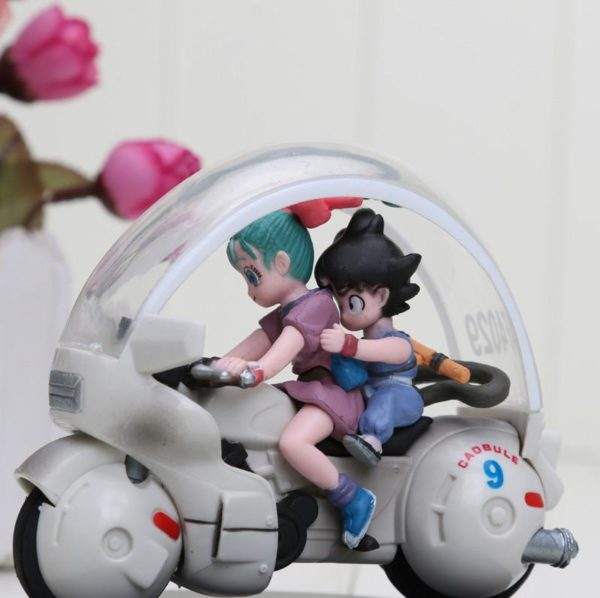 8 cm Dragon Ball Z Son Goku Bulma moto PVC Action Figure collection mod egrave 1 Figurine San Goku Et Bulma En Moto (8 Cm) Dragon Ball Z - Livraison Gratuite !