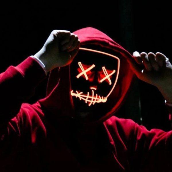 """8 8829defe bd79 4727 a823 8309755937b5 Masque Lumineux """"The Purge"""" Halloween"""