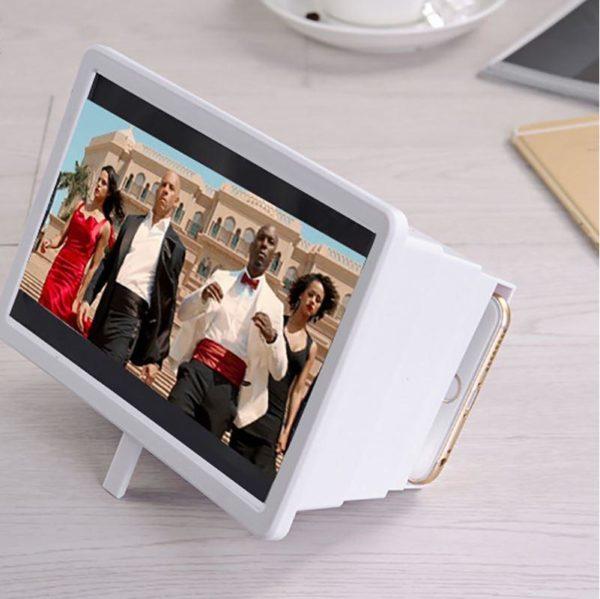 Amplificateur D'écran Universel 3D Portable Raton Malin Blanc