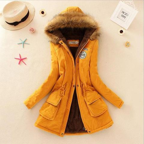 Superbe manteau pour femme 2019 Minute Mode Jaune L