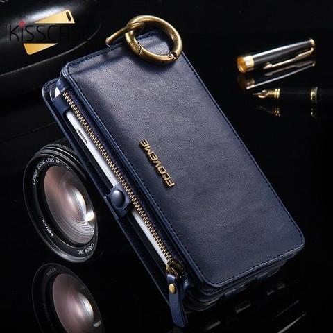 Coque Portefeuille Rétro en Cuir de Luxe pour Samsung raton-malin Bleu Galaxy Note 4