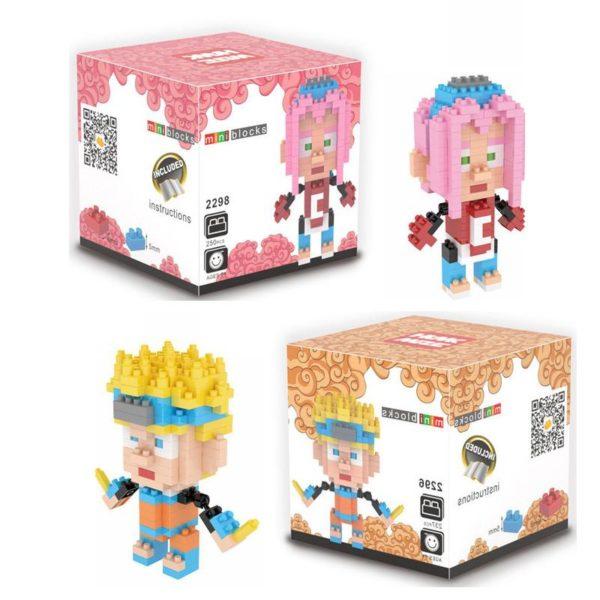 Anime Naruto Jouet Building Block DIY Mini Mod egrave Figurine Mini Lego Naruto (2 Personnages ) - Livraison Gratuite !