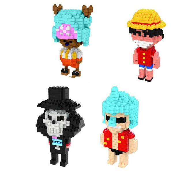 Anime One Piece Figure Jouet Building Block DIY Mini Mod egrave Figurine Lego One Piece (4 Personnages Disponibles) - Livraison Gratuite !