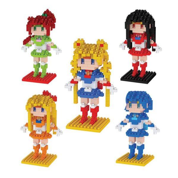 Anime Sailor Moon Cristal Figure Jouet BRICOLAGE Mini Mod egrave Figurine Lego Sailor Moon (5 Personnages) - Livraison Gratuite !