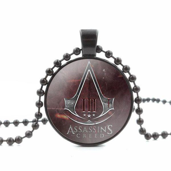 Assassins Creed Verre Cabochon Pendentif Collier Noir Perle Chaine Long Collier Femmes Bijoux 1 f850d3be 450d 439b ae0c 43997b7594c3 Collier Assassin's Creed Verre Cabochon (2 Couleurs) - Livraison Gratuite !