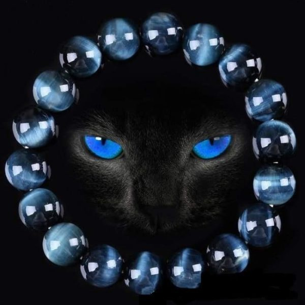 Bracelet Œil De Faucon (Œil de Tigre Bleu) - Bracelet de Protection Minute Mode 8 mm