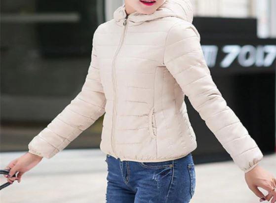 Veste à Capuche Légère Site Vêtements Beige M
