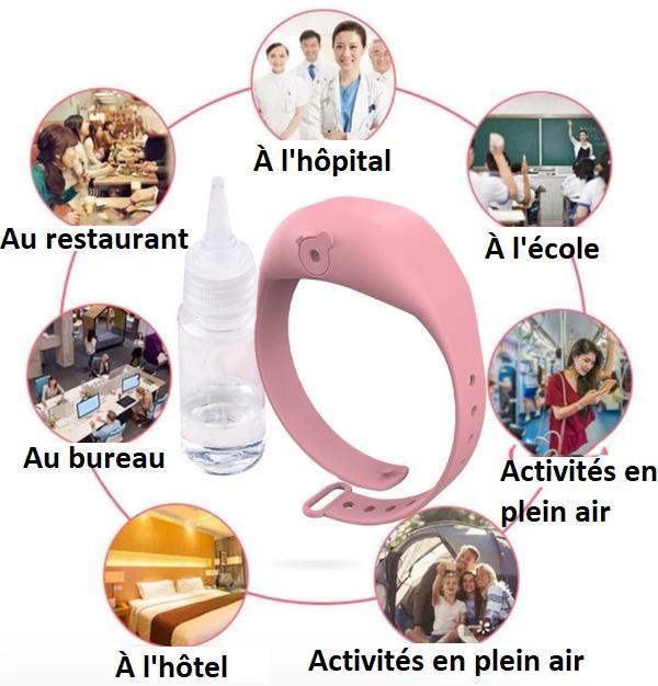 BR1 Bracelet Distributeur De Gel Désinfectant Pour Les Mains - Hygièna™