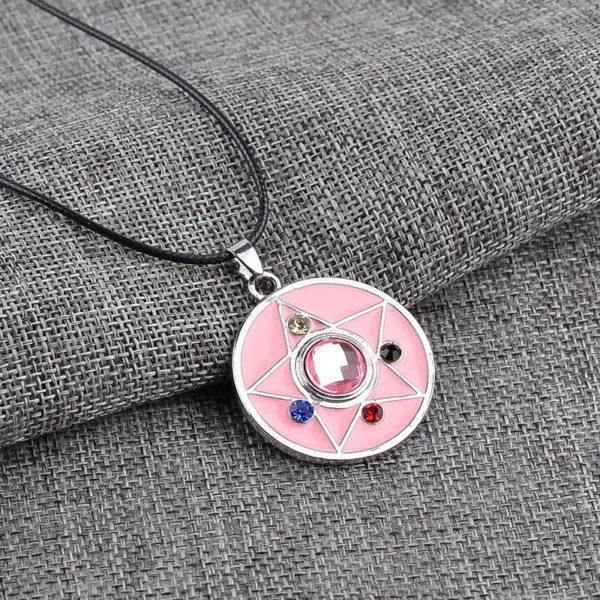 Bande dessin eacute Collier Sailor Moon Pendentif Rond Cristal Étoile - Livraison Gratuite
