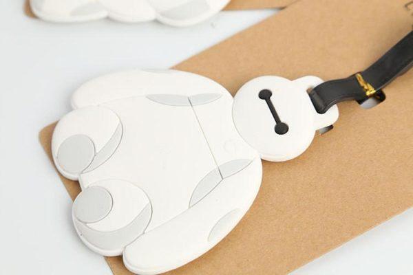 Big Hero 6 Baymax creative silicone bagages tag pendentifs eacute 1 835789e1 8dbd 4d45 a628 fb63834b581b Étiquettes De Bagages Baymax Silicone (2 Modèles) - Livraison Gratuite !