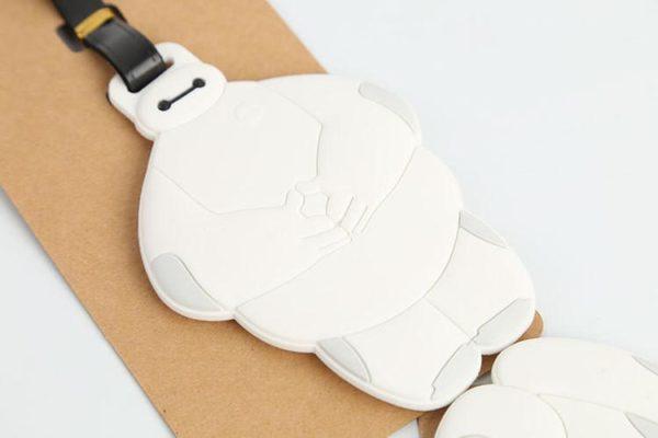 Big Hero 6 Baymax creative silicone bagages tag pendentifs eacute 630f5e5f fed9 4bac bd39 7c313e03eabd Étiquettes De Bagages Baymax Silicone (2 Modèles) - Livraison Gratuite !