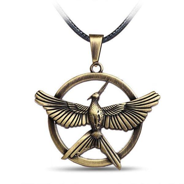 Bronze En Cuir noir Corde Le Hunger Games Alliage Collier Ras Du Cou Jay Bijoux Oiseau.jpg 640x640 0dcb5315 b2fe 417b 9b78 ab8634c07607 Collier Mockingjay Le Geai Moqueur En Cuir - Hunger Games La Révolte - Livraison Gratuite !
