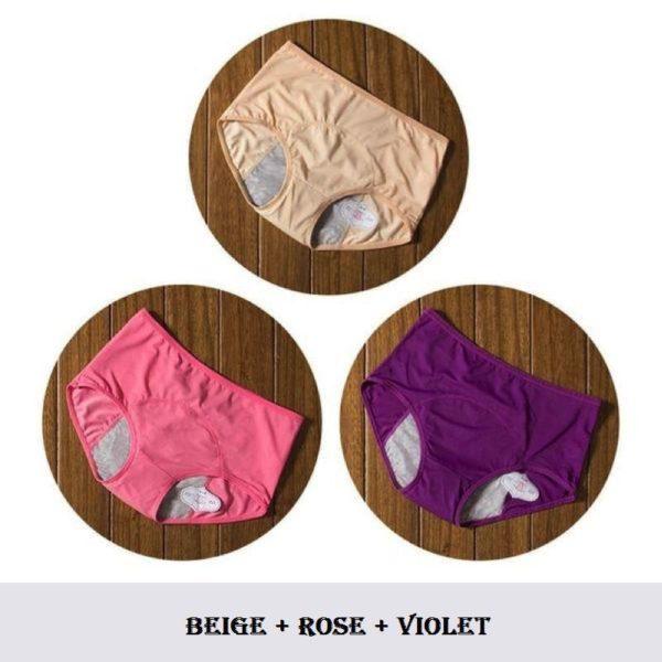 C16 Culottes Menstruelles (Lot De 3)