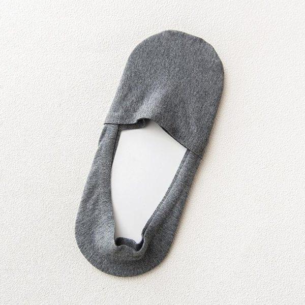 Chaussettes Invisibles Antidérapantes En Silicone (Lot de 5) Raton Malin Gris foncé 36 - 44