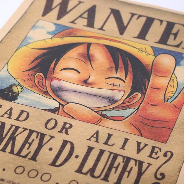 CRAVATE LER D eacute 1 Stickers Muraux Papier Vintage One Piece (51 X 35.5 Cm ) - Livraison Gratuite !