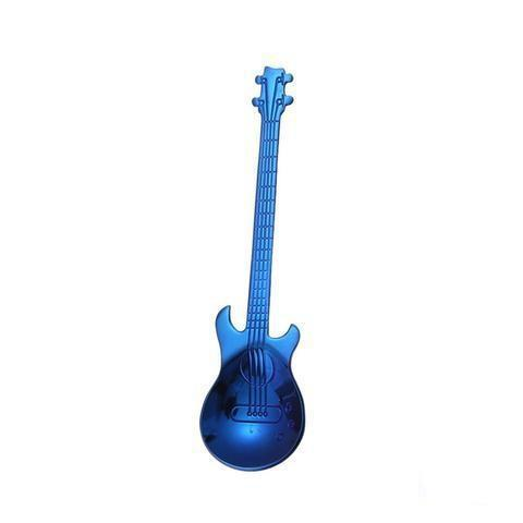 Cuillère à Café Guitare en Acier Inoxydable Raton Malin Bleu