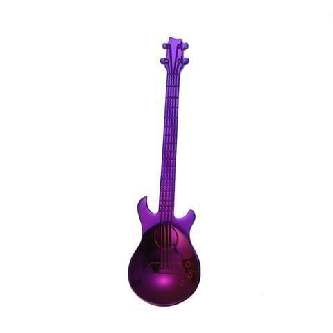 Cuillère à Café Guitare en Acier Inoxydable Raton Malin Violet