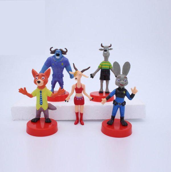 Cartoon Film Zootopia Chiffres Animaux Jouets Judy Lapin PVC Figurines Poup eacute c530e3a2 e7d1 4341 81df 0826f5f8f7e6 1 Lot De 5 Figurines Zootopie - Livraison Gratuite !