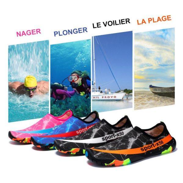 Chaussures Plage Chaussure D'eau, L'option Pas Cher Pour Les Sportifs Aquatiques