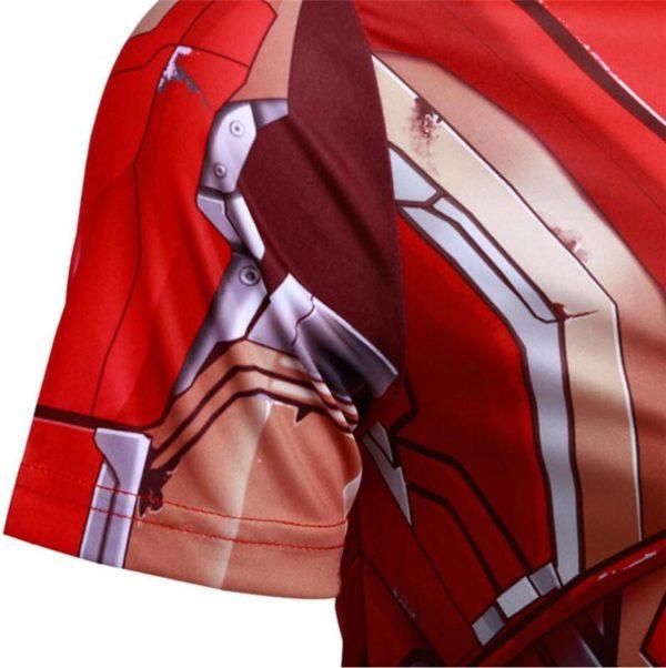 De Sportlover Nouveau Marvel The Avengers Super Hero T Shirt Iron Man T shirt 3D Impression 1 T-Shirt Armure Iron Man Avengers - Livraison Gratuite !