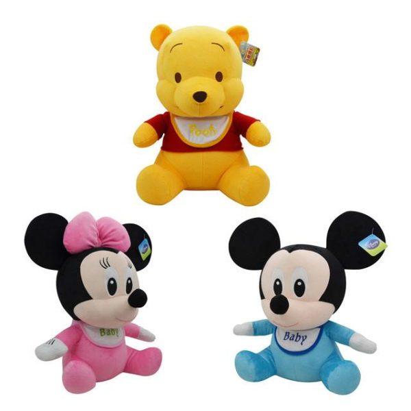Disney Veritable Winnie L ourson Mickey Mouse Minnie Lilo et Stitch bebe En Peluche Jouets En.jpg 640x640 490b66f3 eaaf 4d92 a122 97cada773137 Peluche Bébé Mickey Minnie Mouse Et Winnie L'ourson - Livraison Gratuite !