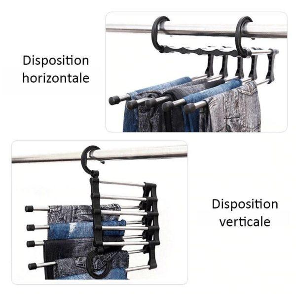 Dispositions Cintres Multifonctionnels Pour Pantalons