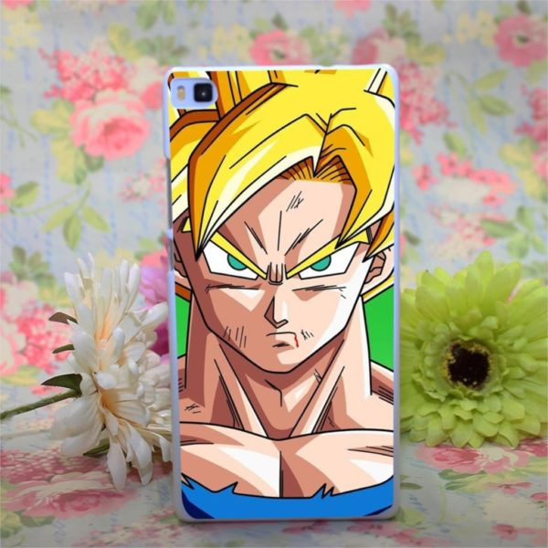 Dragon Ball Z Son Goku Design blanc de couverture de cas dur pour Huawei Ascend P6 Coque Antichoc Son Goku Dragon Ball Z Pour Huawei Ascend - Livraison Gratuite !