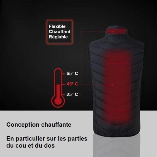 G12 Gilet Chauffant Electrique