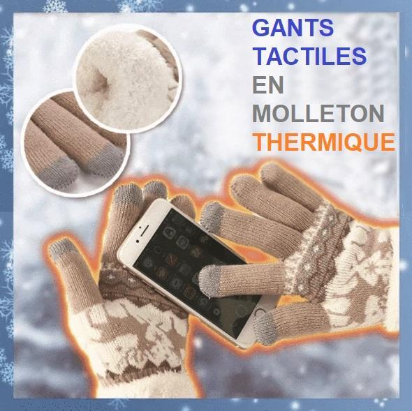 G2 copy Gants Tactiles En Molleton Thermique
