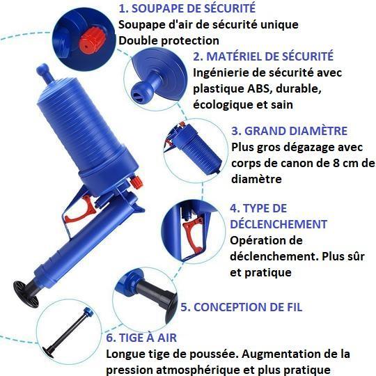 G5 Pistolet Déboucheur De Toilettes Et Évier