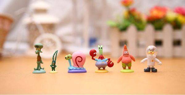 1 Lot De 12 Figurines Bob L'éponge - Livraison Gratuite !