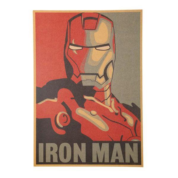 HTB106r7NpXXXXbTXpXXq6xXFXXXN 82481f5b 3433 4f72 a18e 9dfefc1c8f76 Sticker Mural Iron Man En Papier Vintage Style Rétro - Livraison Gratuite !