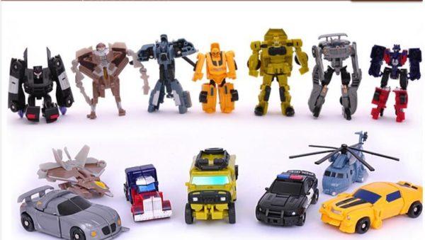Robot Transformers Figurine En Plastique (7 - 8 Cm) - Livraison Gratuite !