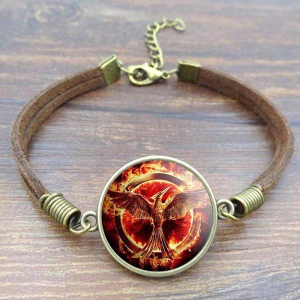 HTB14UVHLXXXXXa9XpXXq6xXFXXXb 863227a3 b983 4e0b a85b d14c541c2a80 Bracelet Mockingjay Hunger Games En Verre Cabochon (2 Modèles) - Livraison Gratuite !