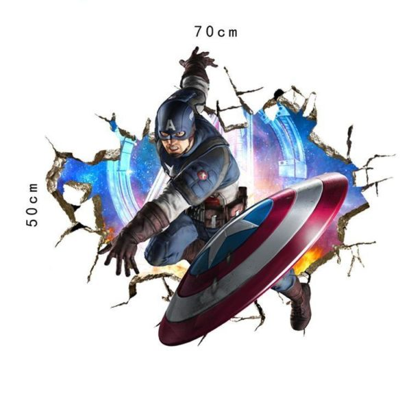 Stickers Muraux Les Avengers En 3D - Livraison Gratuite !