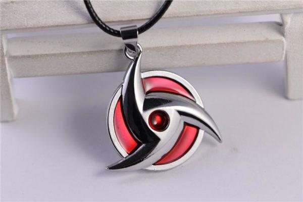 Collier À Pendentif Shuriken Rouge De Ninja Naruto - Livraison Gratuite !