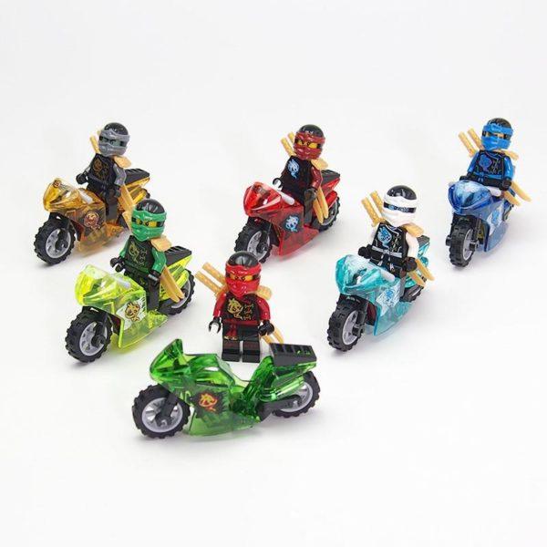 Figurine Ninjago Bloc De Construction Ninja Tornado En Moto - Livraison Gratuite !