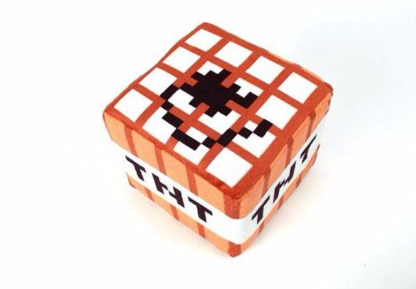 Peluche Oreiller Tnt (20 X 20 20 Cm) Minecraft - Livraison Gratuite !
