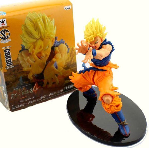 Figurine Super Saiyan San Goku Kamehameha (17Cm) Dragon Ball Z - Livraison Gratuite !