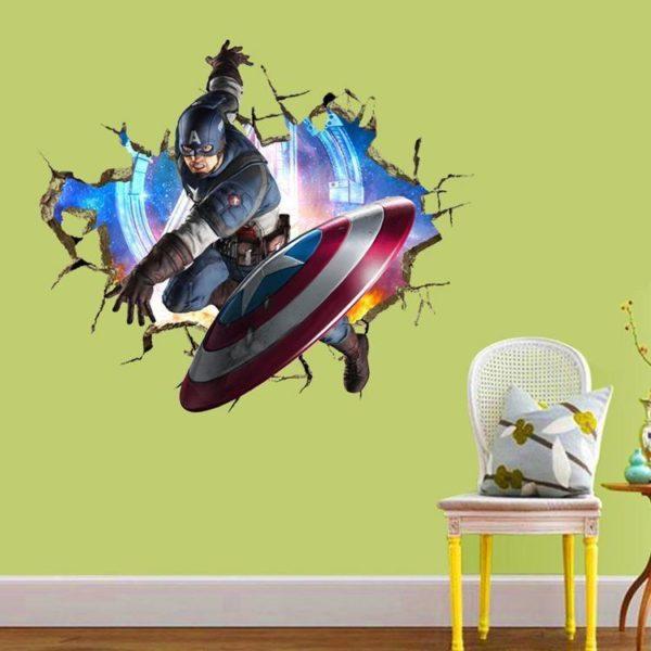 HTB1BjPoOFXXXXXvaFXXq6xXFXXXx c0e63d45 14d3 45b5 820f dbc9af49f0b5 Stickers Muraux Les Avengers En 3D - Livraison Gratuite !