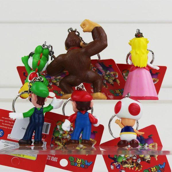 1 Lot De 5 Figurines Porte-Clés Super Mario Bros. - Livraison Gratuite !