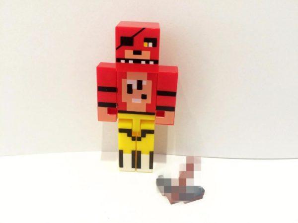 1 Lot De 4 Figurines Minecraft (Foxy Chica Bonnie Freddy ) - Livraison Gratuite !