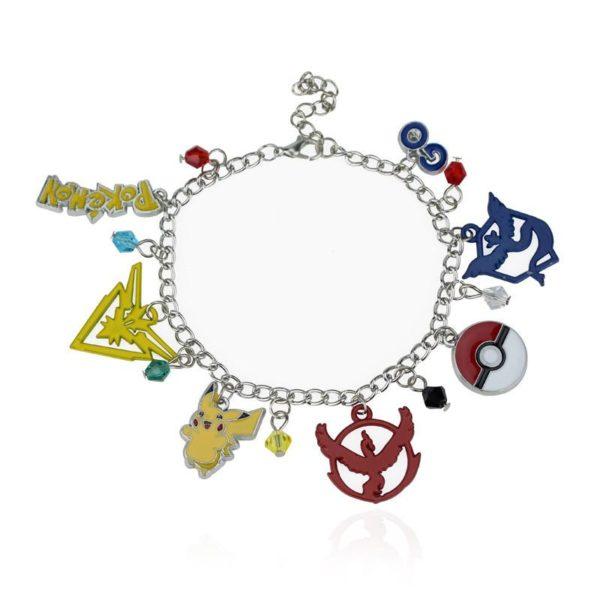 Bracelet Team Pokémon Go Multi-Pendentifs En Cristal - Livraison Gratuite !