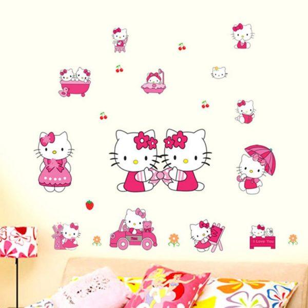 HTB1KnccLFXXXXXPXVXXq6xXFXXXk 2b1416da e434 4f97 b645 bec6c2dcc6c9 Sticker Mural Hello Kitty - Livraison Gratuite