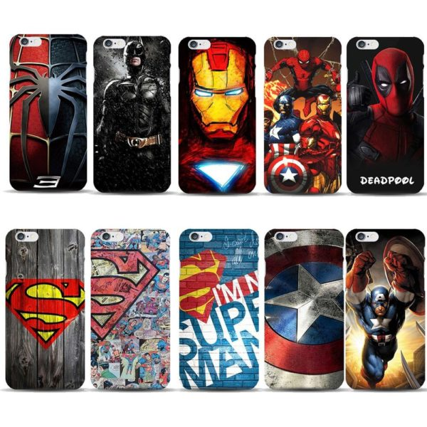 Coque Super-Heros Marvel Et Dc Comics Ultra-Slim Pour Iphone - Livraison Gratuite !
