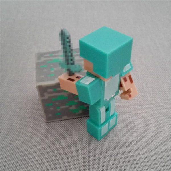 HTB1N1w3MVXXXXc2aXXXq6xXFXXXT 8bb69cbc 04be 471f 95c9 1f28b5b4312c 1 Lot De 3 Figurines Minecraft Diamant (Steve Bloc Épée Pack Bloc ) - Livraison Gratuite !