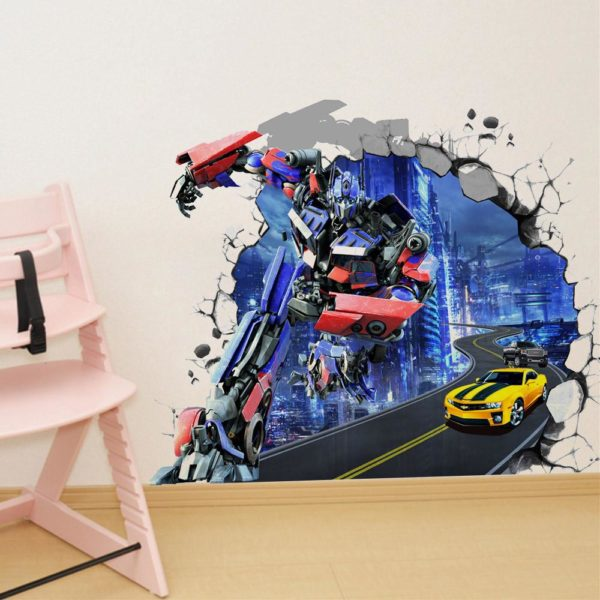 HTB1OAaYKVXXXXaGXpXXq6xXFXXX4 dcbff575 283e 4fcf b50a 9a37fa7a9a66 Sticker Mural Transformers En 3D - Livraison Gratuite !