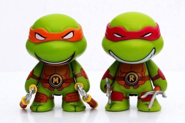 1 Lot De 4 Figurines Les Tortues Ninja (7Cm) - Livraison Gratuite !