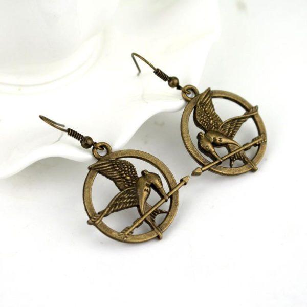 Boucles D'oreilles Mockingjay / Le Geai Moqueur Hunger Games - Livraison Gratuite