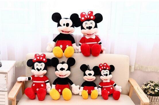 Peluche Mickey Et Minnie Mouse 40Cm (3 Couleurs) - Livraison Gratuite !